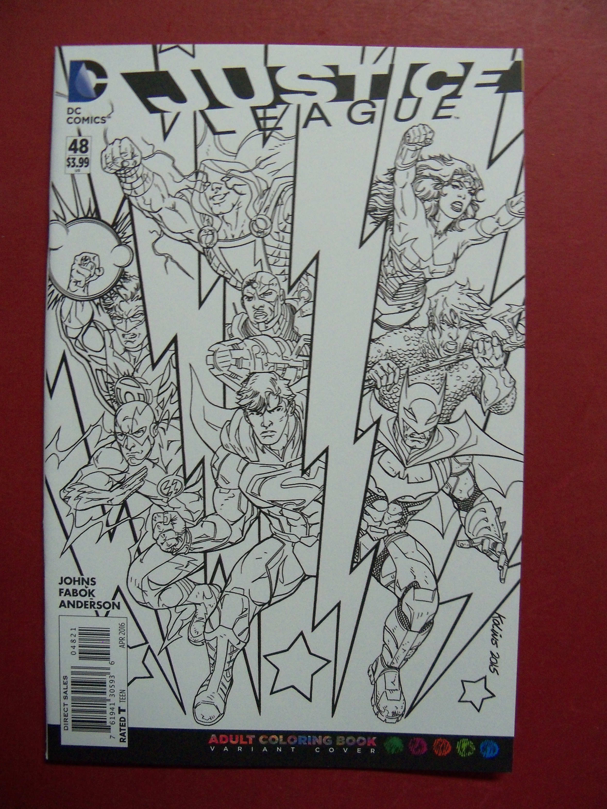 Justice League 48 Adult Coloring Book Variant Cover 9 4