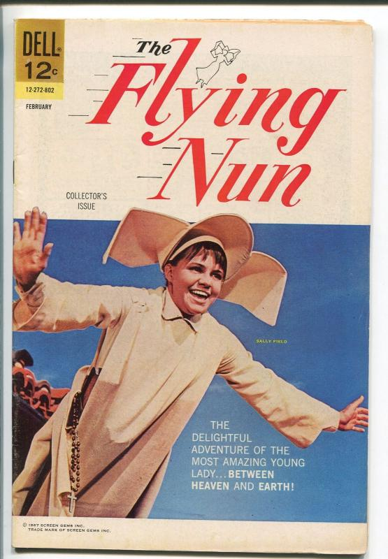 THE FLYING NUN #1 1968-DELL-1ST ISSUE-SALLY FIELD-TV SERIES-PHOTO COVER-vf+