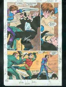 ORIGINAL D.C. COLOR GUIDE ROBIN ANNUAL #2 PG 54-SIGNED VG