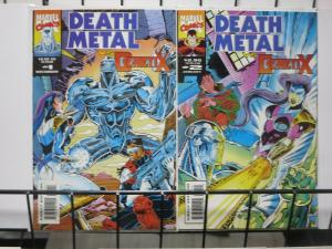 DEATH METAL VS. GENETIX (Marvel UK, 1993) #1-2 COMPLETE VF-NM