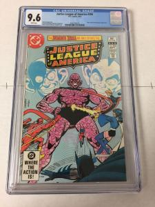 Justice League Of America 206 Cgc 9.6 White Pages