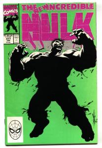 INCREDIBLE HULK #377 comic book 1st Professor Hulk Avengers NM-