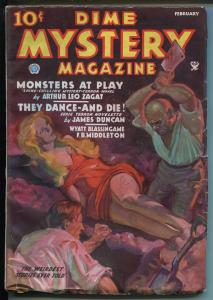 DIME MYSTERY2/1935-BOUND BABE-BAUMHOFER COVER-WEIRD MENACE-SPICY-SAUCY-vg/fn