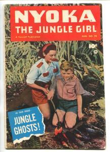 NYOKA THE JUNGLE GIRL #70 1952-FAWCETT-PHOTO COVER-JUNGLE GHOSTS-fn