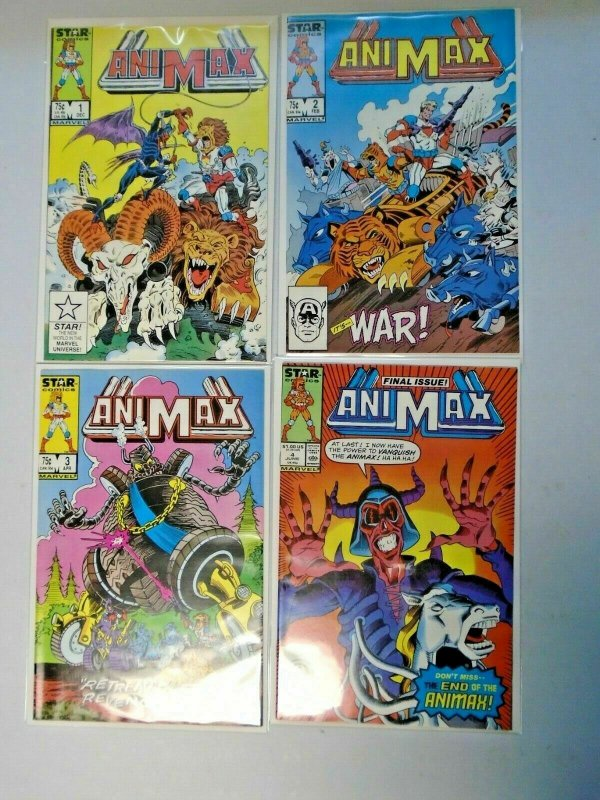 Animax Star Comics Set #1-4 8.0 VF (1986)