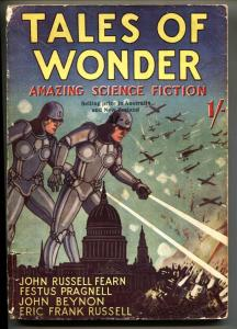 Tales of Wonder #1 June 1937 Robot cover-Rare BRITISH pulp