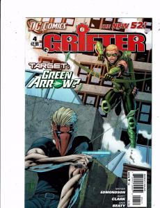 Lot of 4 New 52 Grifter DC Comic Books #4 5 6 7 Green Arrow Mignighter LH2