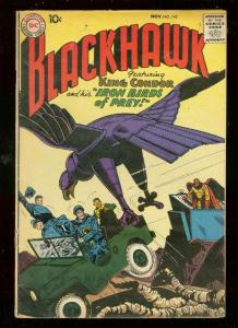 BLACKHAWK COMICS #142 1959-KING CONDOR-DC COMICS VG