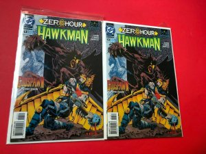HAWKMAN, ZEROHOUR [ 2 ISSUES ] V1 #13 DC / DIRECT SALES / HIGH QUALITY
