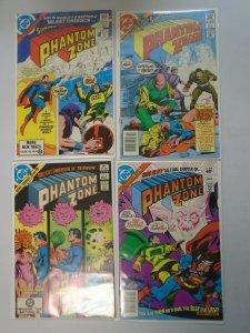 Superman Phantom Zone set #1-4 8.0 VF (1982)