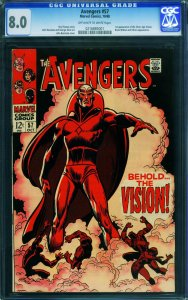 Avengers #57 CGC 8.0 - first appearance of THE VISION! Marvel 0216885001