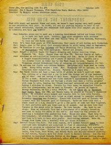 Rainy Days #35 1970-Don & Maggie Thompson fanzine-Golden Age triviia quiz-VG