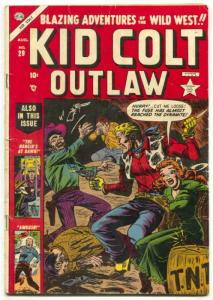 Kid Colt Outlaw #29 1953- Ant Hill Torture- Atlas Western-  VG