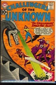 Challengers of the Unknown #21 (1961) color touch on covers