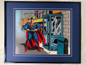 DC Comics Superman Phone Booth 16x20 Framed Poster Display