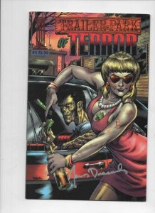 TRAILER PARK OF TERROR #4, Zombies Demons Horror VF Signed James Dracoules 2003