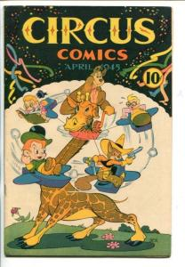 CIRCUS COMICS #1-1953-WWII ERA FUNNY ANIMALS-SOUTHERN STATES-vf/nm