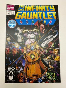 Infinity Gauntlet #1 Marvel Comics poster by George Perez