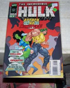 Incredible Hulk  # 442 (Jun 1996, Marvel) SHE-HULK +DOC SAMSON GREEN
