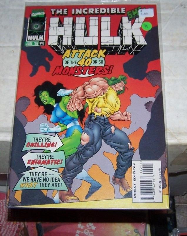 Incredible Hulk #442 (Jun 1996, Marvel) SHE-HULK +DOC SAMSON GREEN