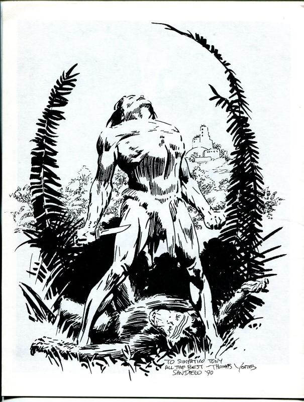Erbania #63 1991 -Edgar Rice Burroughs-Tarzan-Burgard-Tom Yeates-info-pix- VG