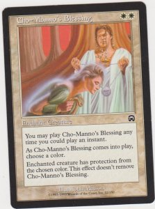 Magic the Gathering: Mercadian Masques - Cho-Manno's Blessing