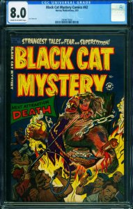 Black Cat Mystery #42-CGC 8.0 Sick Pre-Code Horror 2000075002