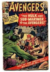 AVENGERS #3-1963-MARVEL comic book HULK-WASP-SUBBY-THOR-IRON MAN