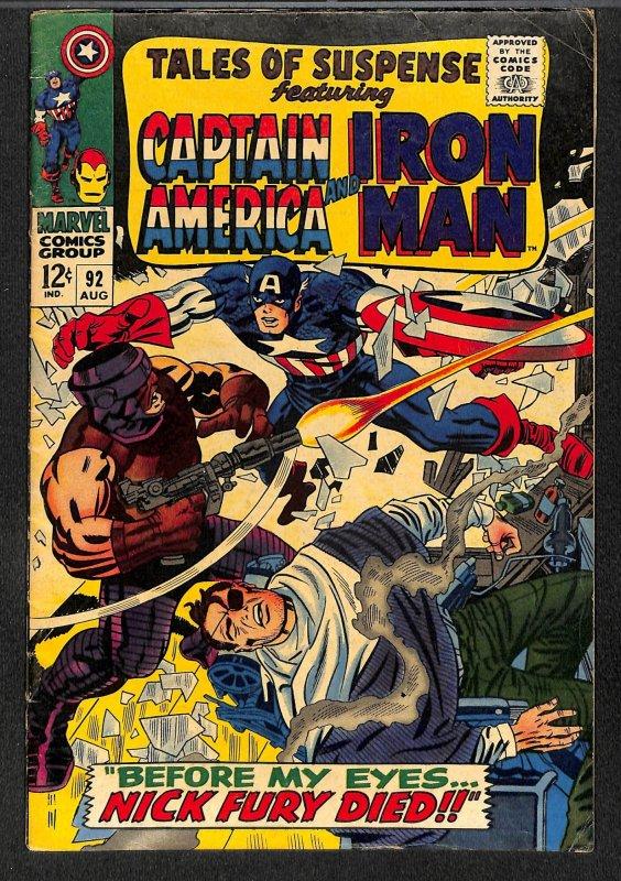 Tales Of Suspense #92 GD/VG 3.0 Iron Man