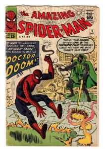 Amazing Spider-Man #5 Dr. Doom issue 1963 Marvel Silver Age comic book G+