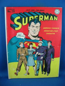 SUPERMAN 29 F+ 1942 NICE LOIS LANE COVER