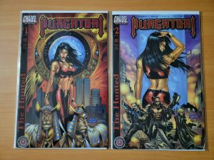 Purgatori The Hunted 1-2 Complete Set Run! ~ NEAR MINT NM ~ 2001 Chaos Comics
