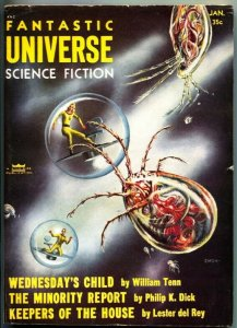 FANTASTIC UNIVERSE SCIENCE FICTION-Jan 1956-Pulp-LESTER DEL REY-PHILIP K DICK