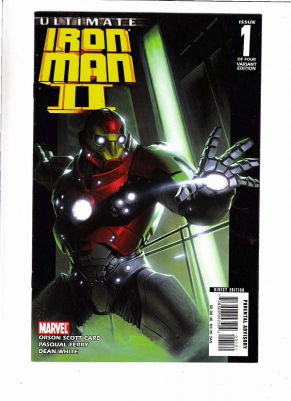Ultimate I ron Man II (1 of 4 covers) #1 (8-Feb) NM- Super-High-Grade Iron Man