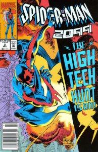 Spider-Man 2099 #2 (Newsstand) VF; Marvel   save on shipping - details inside