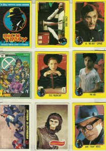 Dick Tracy/Planet of the Apes/Iran Contra/Marvel Trading Cards
