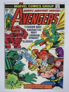 AVENGERS 130 F- December 1974 Battle Issue COMICS BOOK