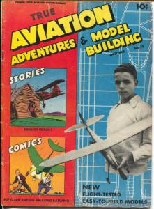 True Aviation Adventures & Model Building #15 1946-title change-last issue-VG+