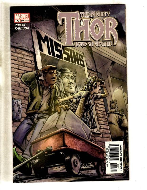 10 Mighty Thor Marvel Comic Books # 471 491 552 559 560 561 562 563 564 565 MF20