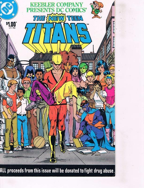 Lot Of 2 New Teen Titans DC Comic Books Drug Awareness Campaign & Keebler  Co J88