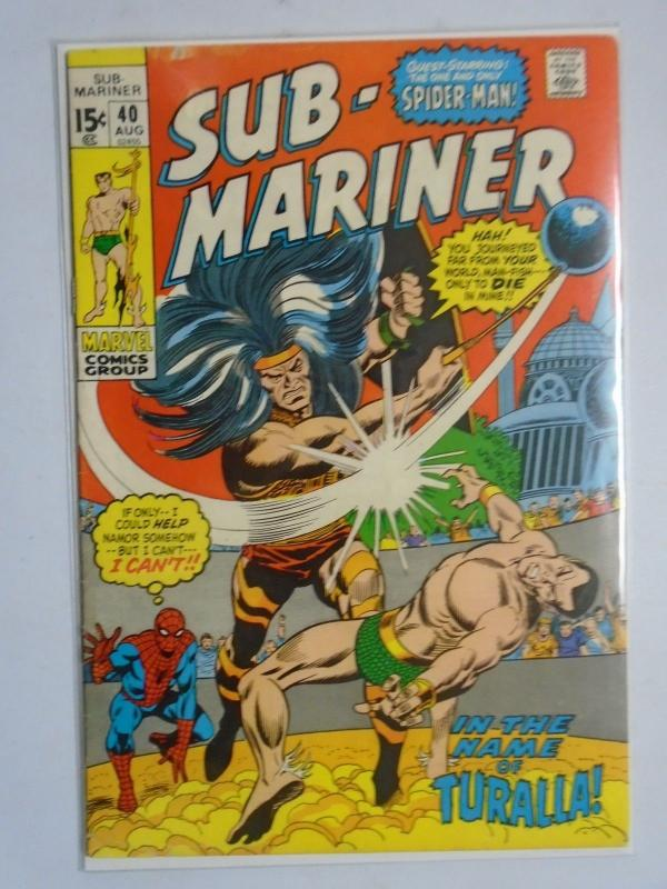 Sub-Mariner (1st Series) #40, Water Stains (W/ Spiderman) 4.0 (1971)