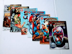 Adventures of Superman # 538 539 540 541 542 543 544 Dc Comic lot (ID#002)