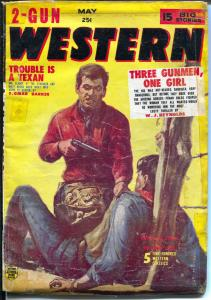 2 -Gun Western 5/1956-Red Circle-violent pulp thrills-Marvel Comics-G/VG