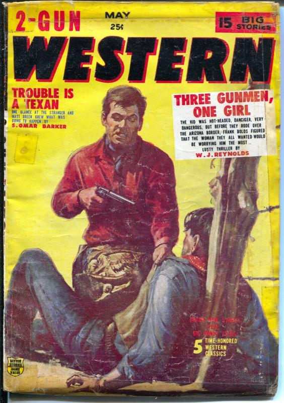 2 -Gun Western 5/1956-Red Circle-violent pulp thrills-Marvel Comics-G/VG