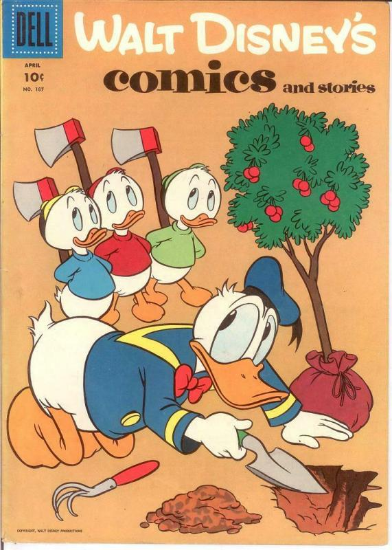 WALT DISNEYS COMICS & STORIES 187 VG-F ALL BARKS COMICS BOOK