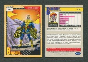 1991 Marvel Comics II  Card  #36 ( Banshee )  MINT