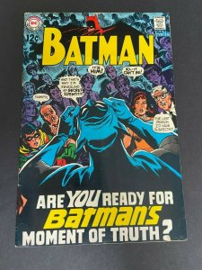 Batman 211 VG+ (DC May 1969)