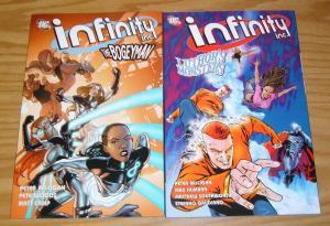 Infinity Inc TPB #1-2 VF/NM complete series - peter milligan - steel DC set lot