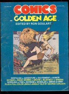 COMICS: THE GOLDEN AGE FANZINE #1 1984-SHEENA-BLUE BOLT VG/FN