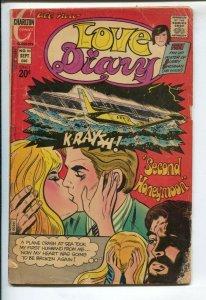 Love Diary #80 1972-Charlton-20¢ cover price-Bobby Sherman poster-plane crash...